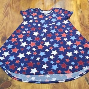 LuLaRoe Stars Patriotic 4th of July Dress 8 Girls